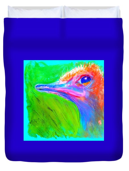 Funky Ostrich Profile Duvet Cover