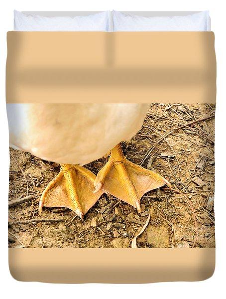 Funny Feet Duvet Cover