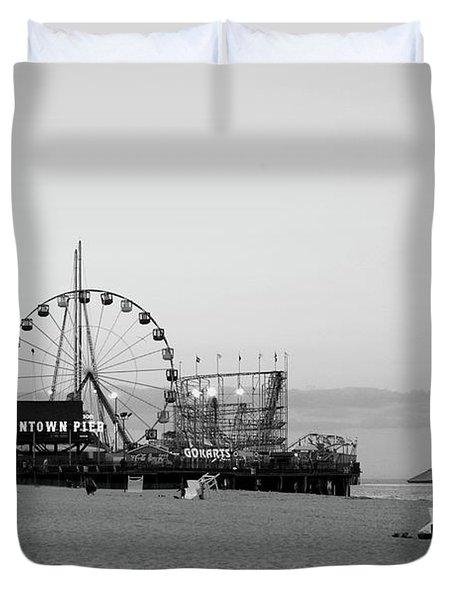Funtown Pier - Jersey Shore Duvet Cover