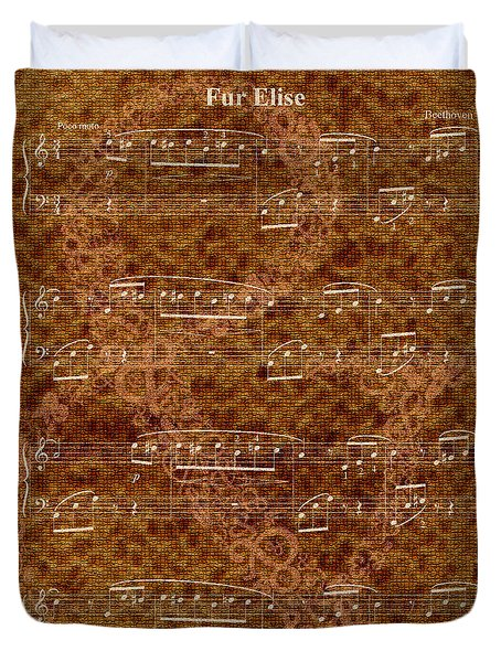 Fur Elise Music 2 Digital Painting Duvet Cover