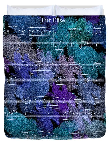 Fur Elise Music Digital Painting Duvet Cover
