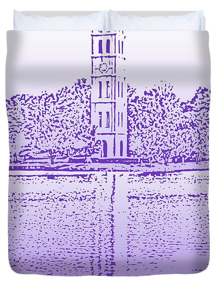 Furman Bell Tower Duvet Cover by Greg Joens