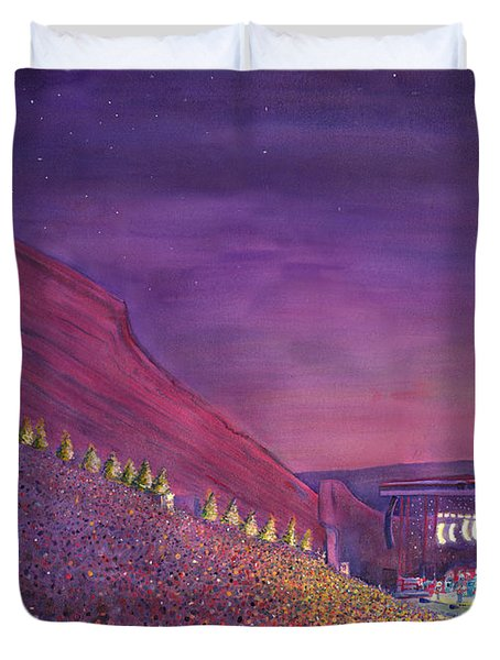Furthur Red Rocks Equinox Duvet Cover