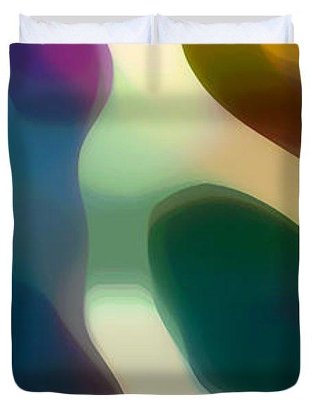 Fury Panoramic Vertical 2 Duvet Cover by Amy Vangsgard