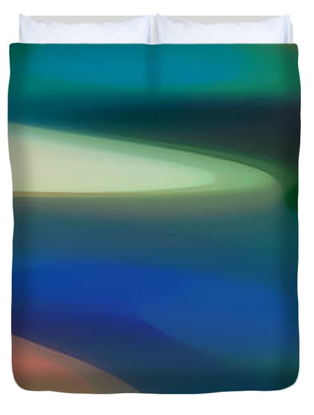 Fury Panoramic Vertical 3 Duvet Cover by Amy Vangsgard