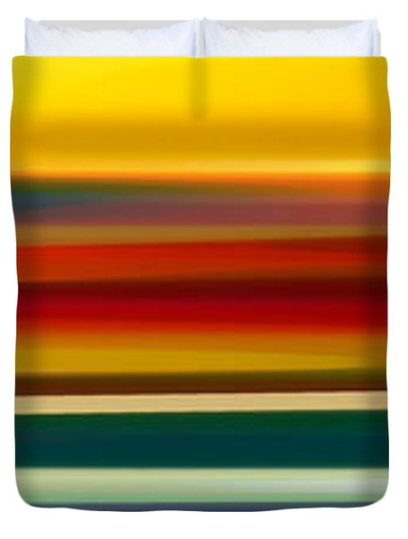 Fury Seascape Panoramic 2 Duvet Cover by Amy Vangsgard