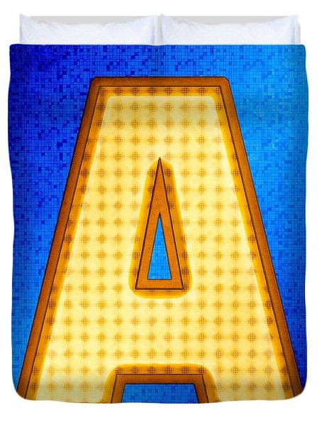 Futuristic Modern Alphabet - Letter A Duvet Cover