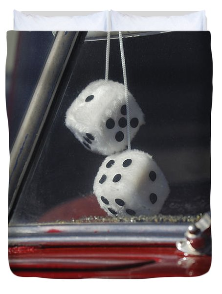 Fuzzy Dice 2 Duvet Cover by Jill Reger
