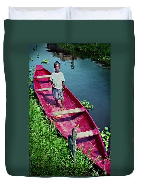Dad's Canoe Duvet Cover
