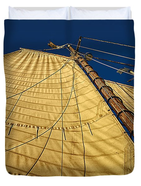 Gaff Rigged Mainsail Duvet Cover by Marty Saccone