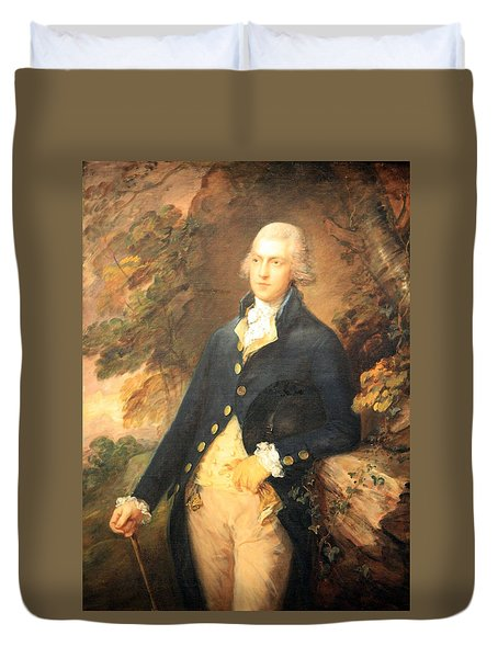 Gainsborough's Francis Bassat -- Lord De Dunstanville Duvet Cover
