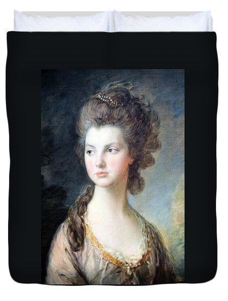 Gainsborough's The Hon. Mrs. Thomas Graham Up Close Duvet Cover
