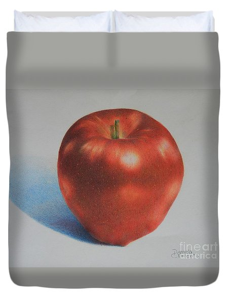 Duvet Cover featuring the painting Gala by Pamela Clements