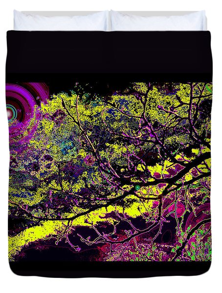 Duvet Cover featuring the photograph Galactic Luminescence by Susanne Still