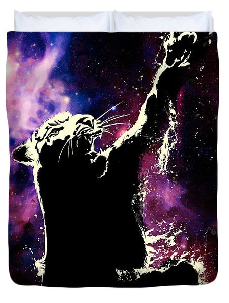 Galactic Tiger Duvet Cover