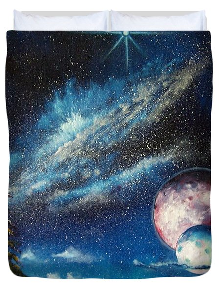 Galatic Horizon Duvet Cover by Murphy Elliott