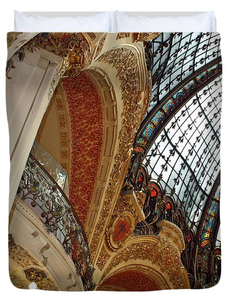 Galeries Lafayette Duvet Cover by Kathy Yates
