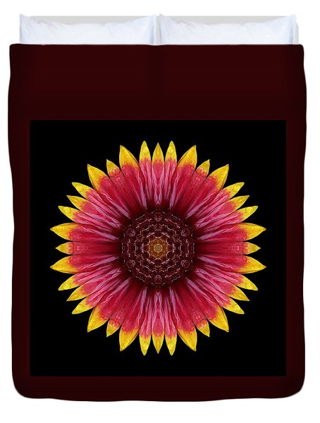 Galliardia Arizona Sun Flower Mandala Duvet Cover