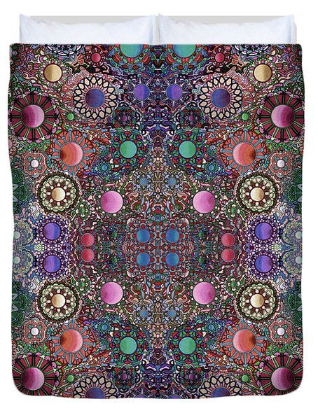 Gallimaufry Mirrored Version 21 Duvet Cover by Devin  Cogger