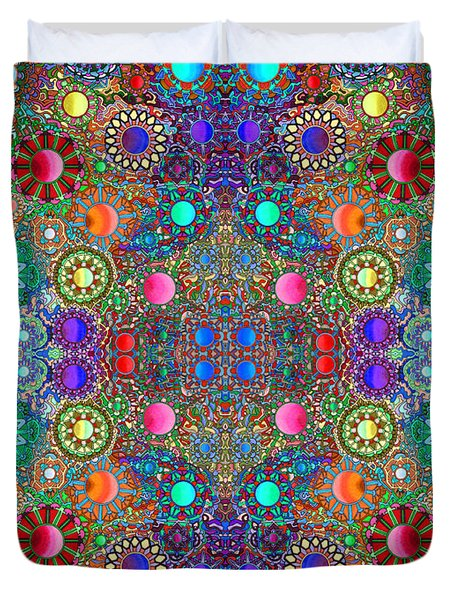 Gallimaufry Mirrored Version 3 Duvet Cover by Devin  Cogger