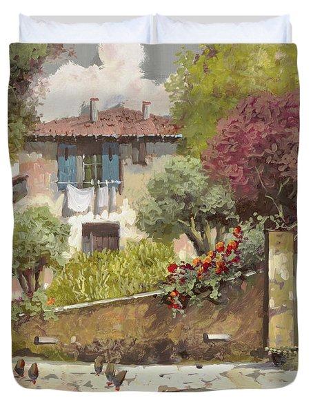 Galline Duvet Cover by Guido Borelli