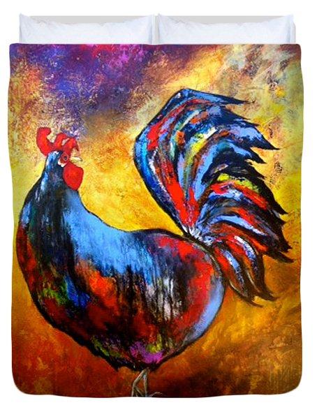Gallo Duvet Cover by Thelma Zambrano