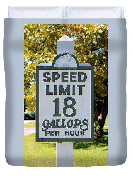 Gallops Per Hour Duvet Cover by Cynthia Guinn