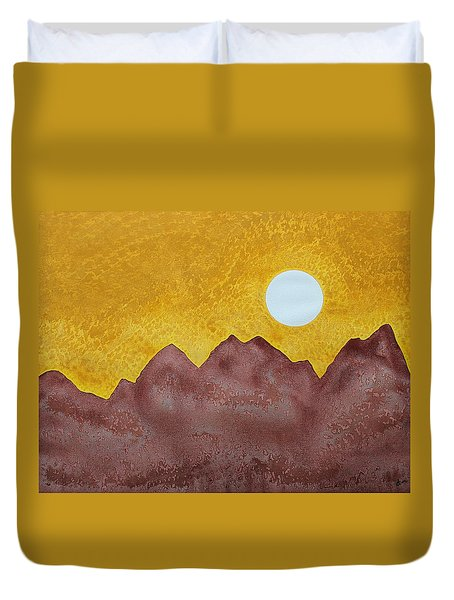Gallup Original Painting Duvet Cover by Sol Luckman