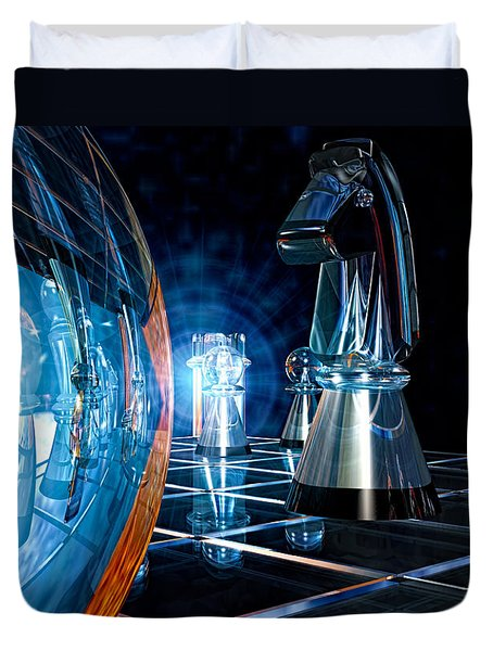 Game Transparent  Duvet Cover by Bob Orsillo