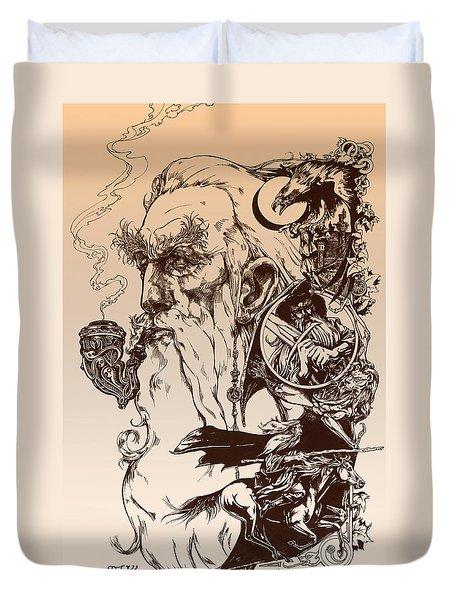 gandalf- Tolkien appreciation Duvet Cover by Derrick Higgins