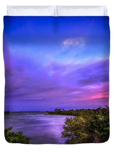 Gandy Lagoon 2 Duvet Cover by Marvin Spates