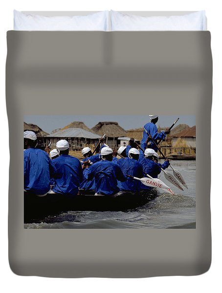 Duvet Cover featuring the photograph Ganvie - Lake Nokoue by Travel Pics