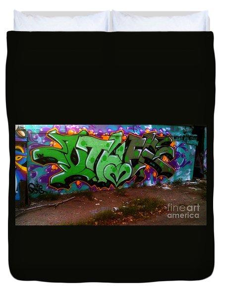 Garage Art Duvet Cover