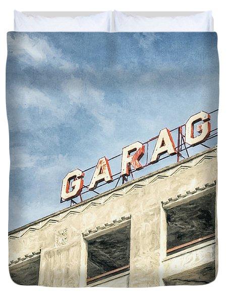 Garage Duvet Cover by Scott Norris