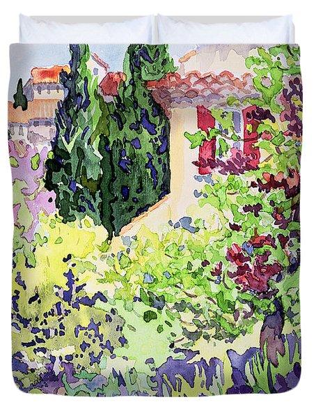 Garden At Vaison Duvet Cover by Julia Gibson