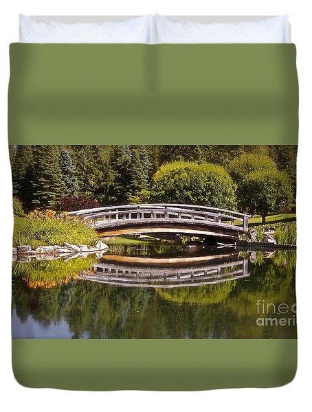 Garden Bridge Duvet Cover by Linda Bianic