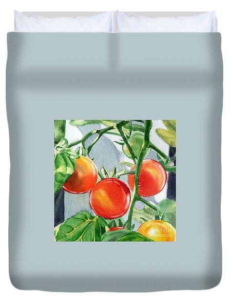 Garden Cherry Tomatoes  Duvet Cover by Irina Sztukowski