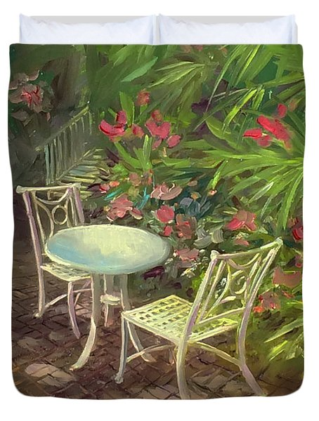 Garden Conversation Duvet Cover