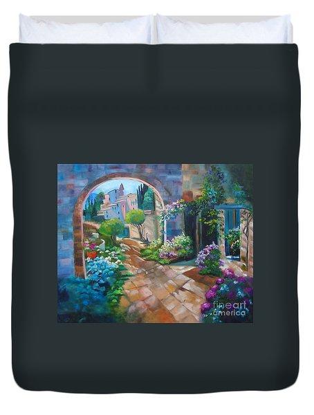 Garden Courtyard Duvet Cover
