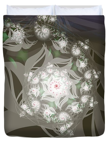 Duvet Cover featuring the digital art Garden Echos by Elizabeth McTaggart