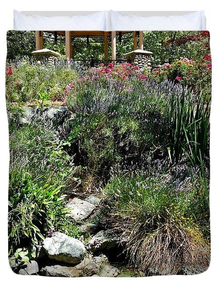 Garden Gazebo Duvet Cover