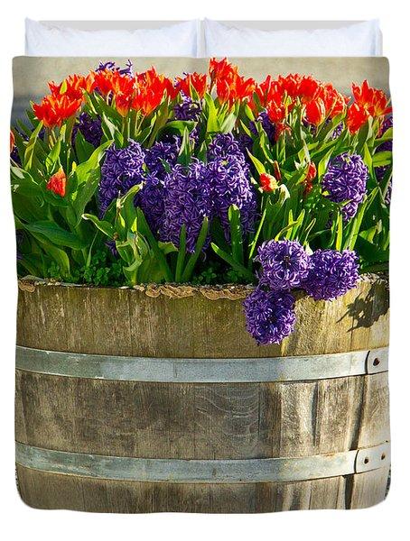 Garden In A Bucket Duvet Cover by Eti Reid