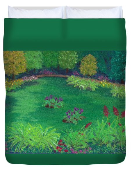 Garden In The Woods Duvet Cover