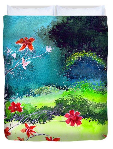 Garden Magic Duvet Cover by Anil Nene