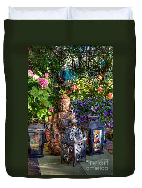 Garden Meditation Duvet Cover