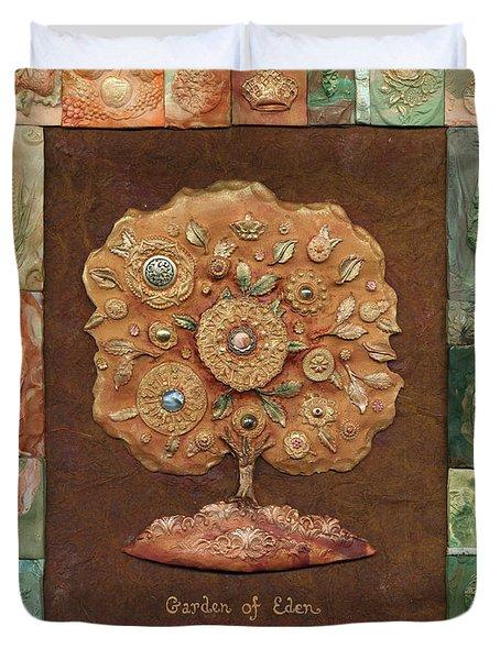 Garden Of Eden Duvet Cover by Michoel Muchnik
