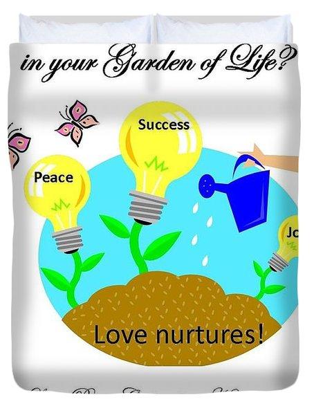 Garden Of Life Duvet Cover by Bobbee Rickard