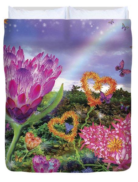 Garden Of Love 2 Duvet Cover by Alixandra Mullins