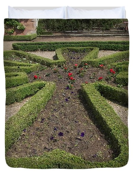 Duvet Cover featuring the photograph Garden Of Peace by Tracey Williams