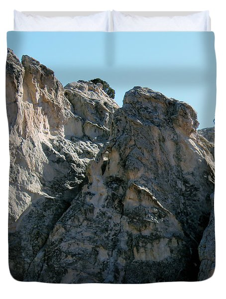 Garden Of The Gods Boulders Duvet Cover